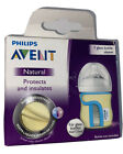 Philips Avent Natural Glass Bottle Sleeve Insulates 4oz  Baby Bottle Yellow Blue