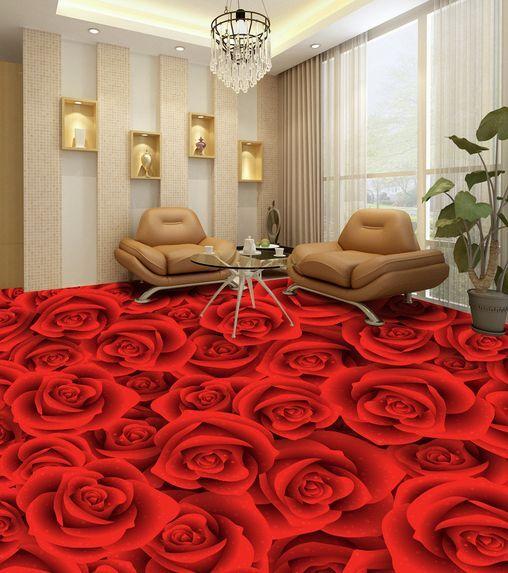 3D Roses 09 Fond d'écran étage Peint en en en Autocollant Murale Plafond Chambre Art   élégant  cebee5