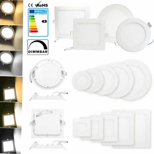 TOP LED Panel Leuchte Dimmbar Deckenlampe Einbau Unterputz Lampe Ultraslim DE