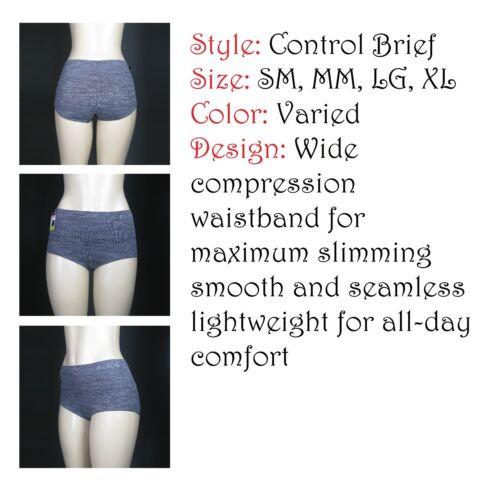 HI-Waist Boxer Waist High Bikini Seamless Brief Panties SM-XL