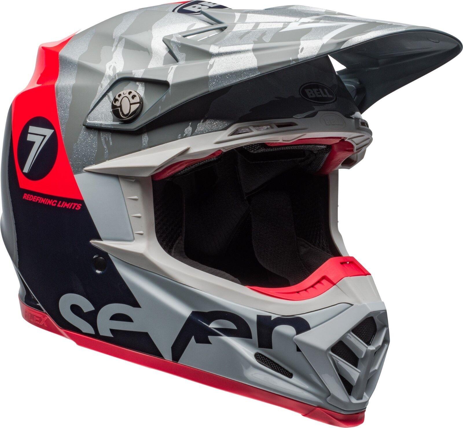 Bell Moto-9 Seven Flex Helmet 2019 Zone Navy/Coral