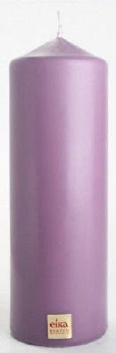 STUMPENKERZE 210 x 70 mm Stumpe Stumpen Kerze von EIKA lila lavendel PFLAUME 62