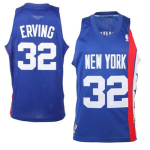 825cf870484 Julius Erving Dr. J New York Nets Adidas Throwback Basketball Jersey ...