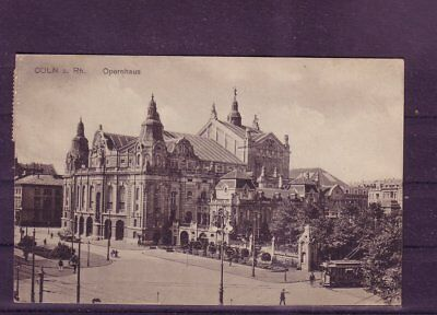 europa:11380 Offen Gelaufene Ansichtskarte Köln opernhaus- äSthetisches Aussehen