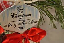 our first christmas as mr and mrs ornament newlywed ornament 2017