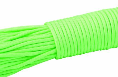 Survival reißfest neongrün fluoreszierend Paracord Seil leuchtet im Dunkeln