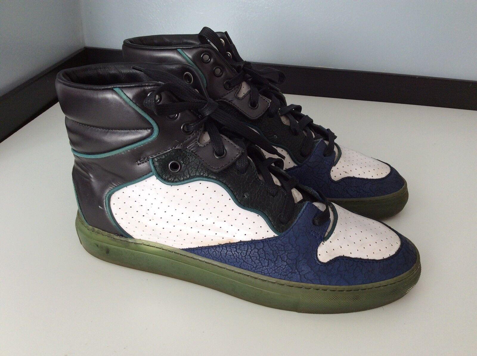 Balenciaga Hi Hi Hi Top Sneakers, Panel, Uk 5 Eu39, Leather, Vgc d963ba