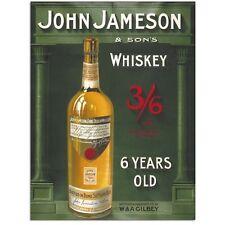 John Jameson Irish Whiskey, Bar, Club, Pub, Restaurant, Small Metal/Tin Sign