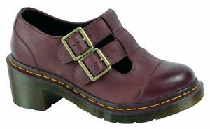 Original Classic Doc Dr Martens Slip On Mary Jane Ivy Dark Brown 16142201