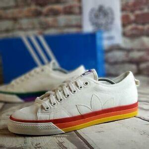 Adidas-Originals-Nizza-Pride-LGBTQ-Casual-Shoes-EF2319-Men-039-s-Size-10-5-Off-White