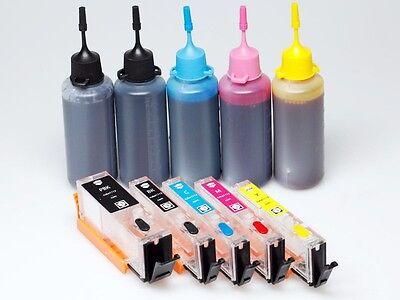 Refillable Ink Cartridges KIT PGI-650 BK CLI-651 K C M for Canon IP8760 IX6860