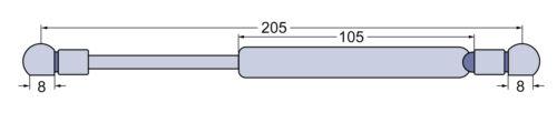 Gasdruckfeder Tür für Steyr 9078 9086 9094 M9105-9145 CVT 120-150 170 6135-6190