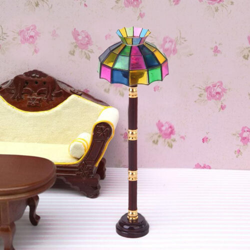 Dollhouse Miniature LED Floor Lamp Light Model Battery Operated Kids Toys Gifts