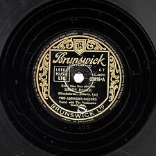 "1940s ANDREWS SISTERS 78 "" SABRE DANCE / HEARTBREAKER "" UK BRUNSWICK 03916 EX-"
