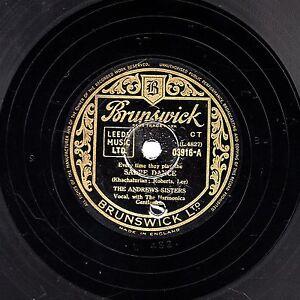 1940s-Andrews-Sisters-78-034-Sabre-Dance-Heartbreaker-034-Reino-Unido-Brunswick-03916-ex