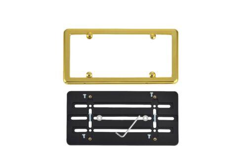 GOLD Frame for DODGE License Plate Bumper Mounting Holder Adapter Tag Bracket