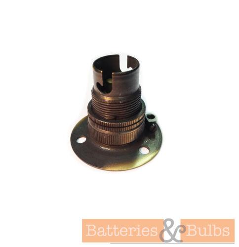 Fixed 3 Hole Batten Lamp Holder SBC with Shade RingBrass Chrome Bronze