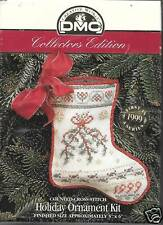 COLLECTORS EDITION HOLIDAY ORNAMENT STOCKING CROSS STITCH  KIT DMC 1999