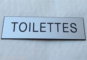 """Plaque Gravée """"toilettes"""" Ft 29x100 Mm"""