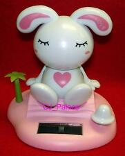 Nohohon Flip Flap Solar Powered Rabbit Bunny (Sit-Down) - Pink Color #A