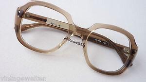 M Alte Berufe Brillen PräZise Wk Vintagebrille 70er Original Braun-verlau Brillenfassung Nerd 52-20 Gr