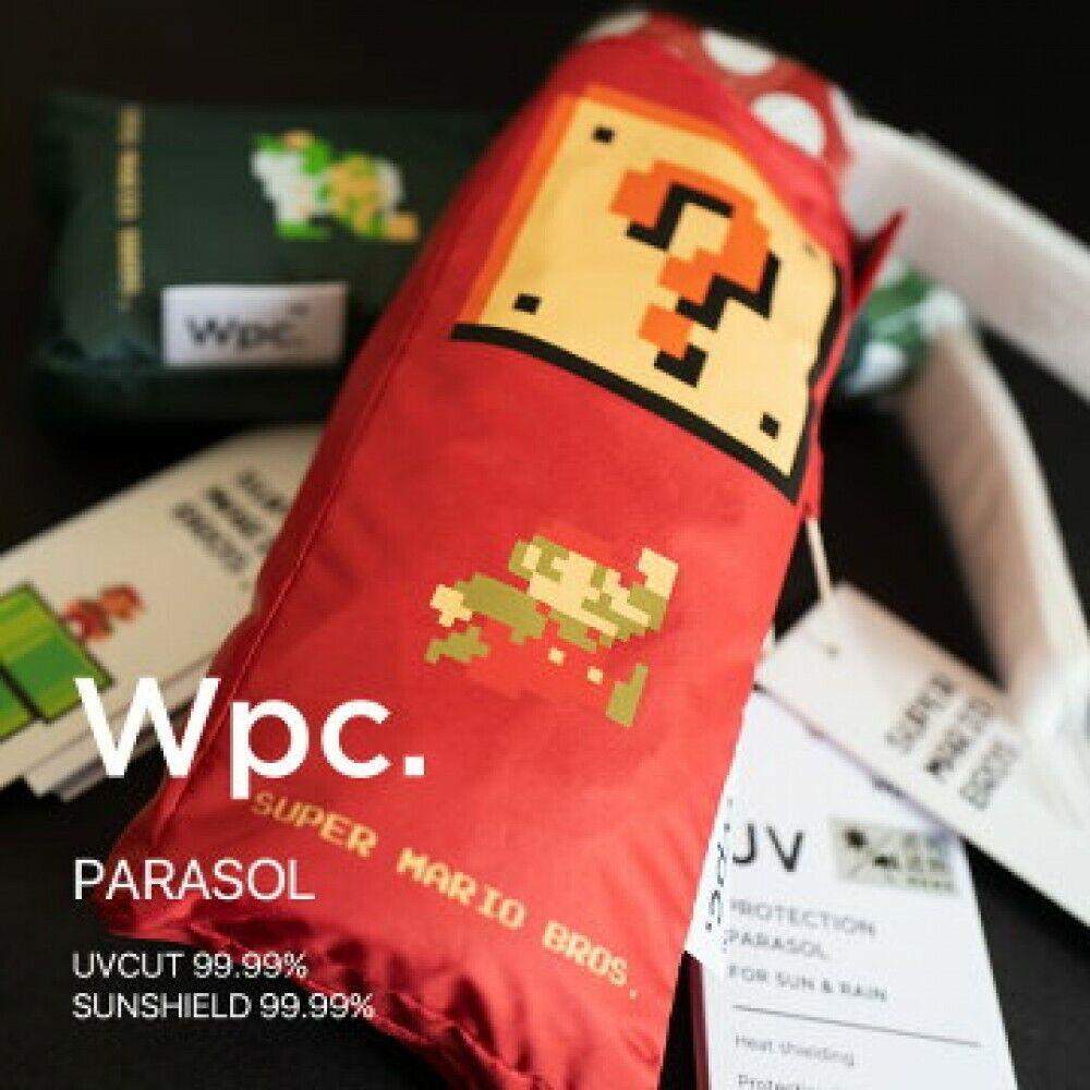 [Super Mario Bros] RED Wpc Folding Umbrella Lightweight UV Cut 801-ND01 JAPAN
