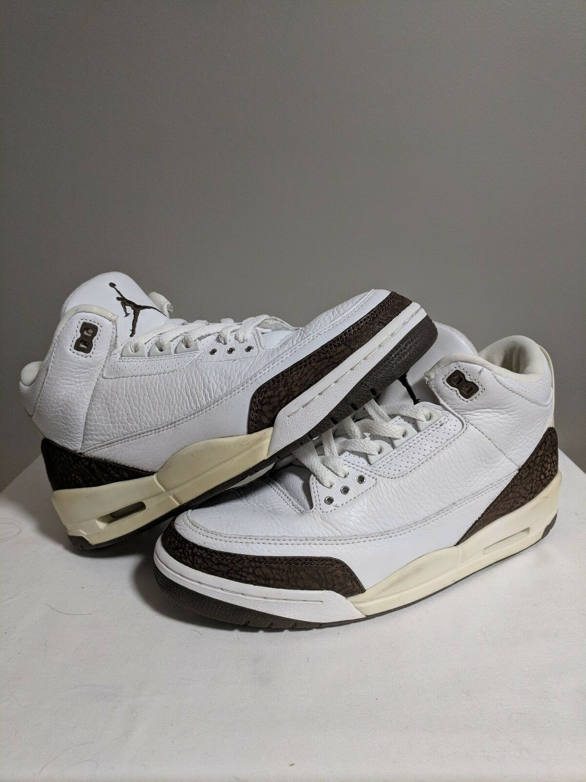 Jordan Retro 3  Dark Mocha Marronee bianca Sz 9.5