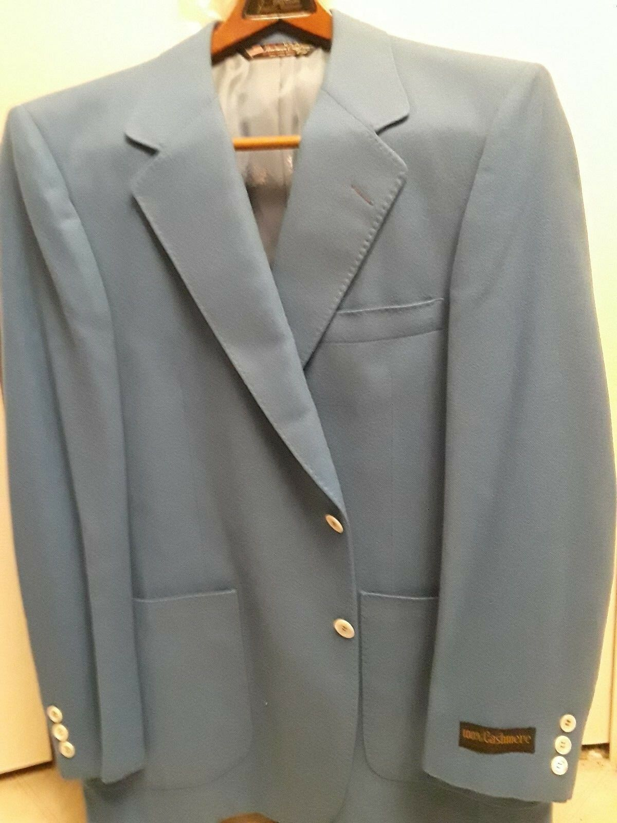 Mens 100% CASHMERE Blazer Sport Jacket New With Tags 42R