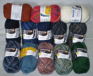 4-98-100gr-50-gr-REGIA-4-faedig-4-fach-Sockenwolle-uni-color-Sonderpreis