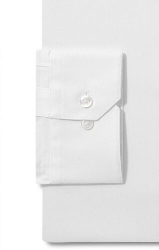 NWT $95 ALFANI Men SLIM-FIT STRETCH WHITE LONG-SLEEVE DRESS SHIRT 13-13.5 32//33