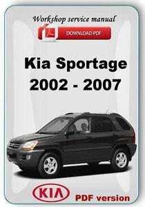 Kia sportage 2000 repair manual download