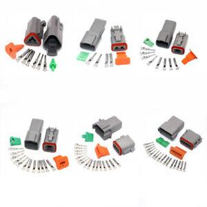 4 3 6 WAY 124 pièce DT fiches mâle et femelle Set 2 Deutsch Connector Kit