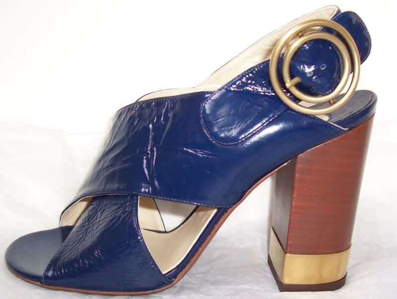 CHLOE bleu Patent Leather or Metal Sandals Sandals Sandals chaussures 37 7 dad3c7