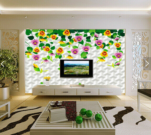 3D Foliage Flowers 8 Wallpaper Mural Paper Wall Print Wallpaper Murals UK Carly
