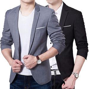 Hot Mens Blazer Suit Jacket Cardigan Jacket Male Wedding Suits S/M ...