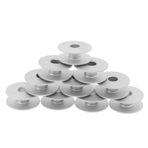 10pcs 21mm Industrial Aluminum Bobbins For Singer Brother Sewing Machine Toolwr