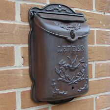 wall mounted cast iron post box outdoor wall letters vintage mailbox dove chic