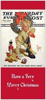 25 Christmas Holiday Greeting Cards Stocking Baby Rockwell Printed Us Or Canada