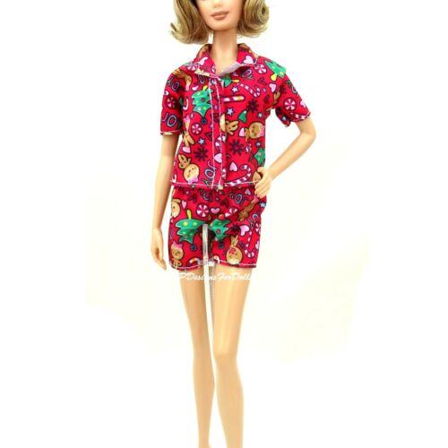 Barbie fashioniste 2019 Pattern Di Natale Rosso PIGIAMA SET NUOVI FUORI SCATOLA
