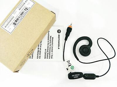 Motorola OEM Headset HKLN4487A Acoustic Tube With PTT CLP1060 CLP1040 CLP1010