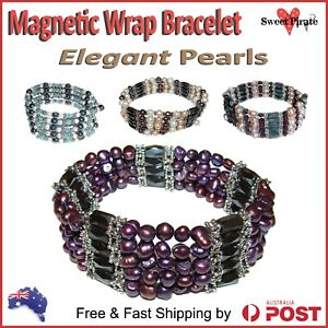 Details About Magnetic Pearl Wrap Bracelet Energy Therapy Arthritis Pain Healing