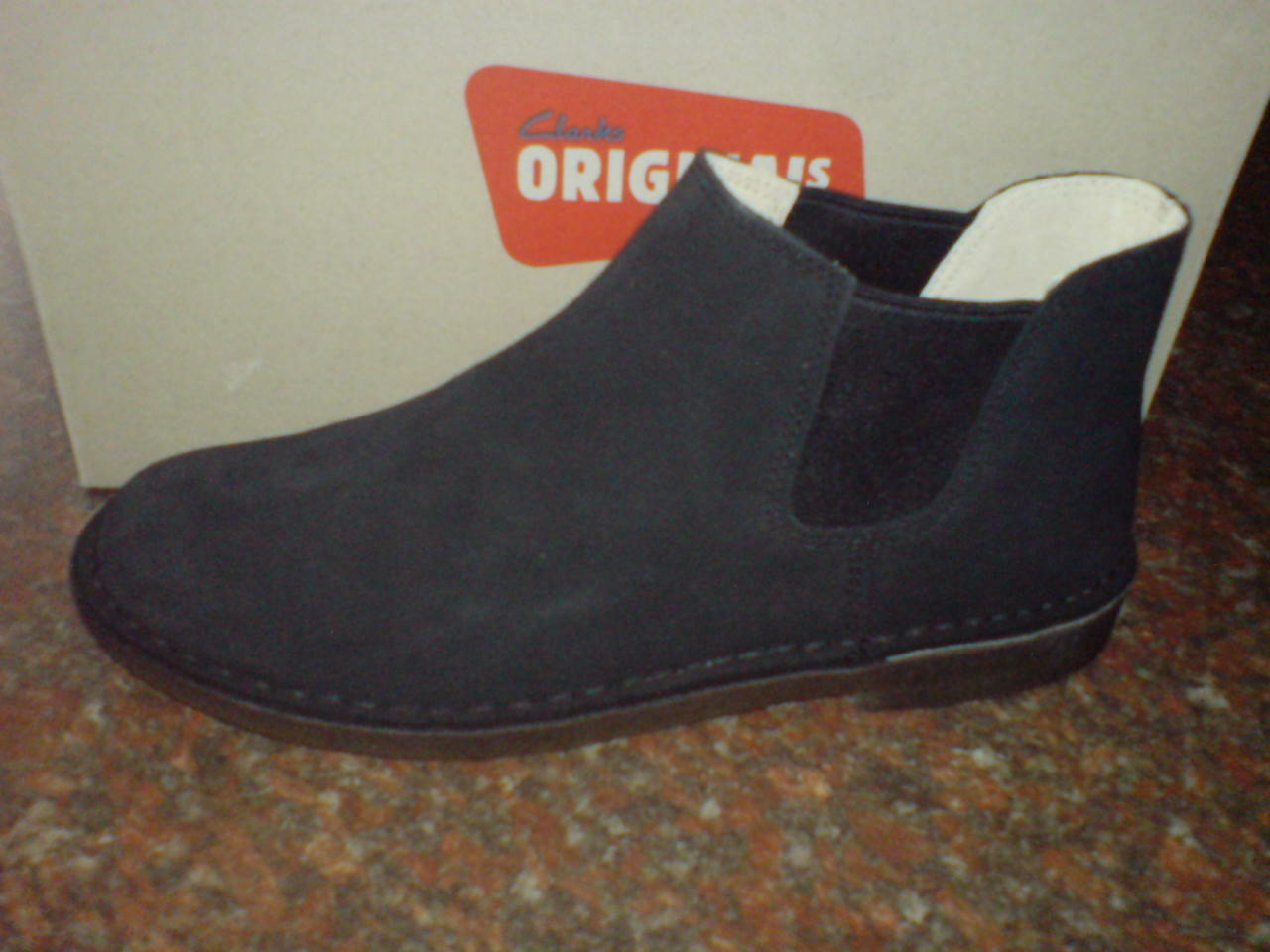 CLARKS ORIGINAL MEN  ** X CHELSEA DESERT BOOT ** 9.5 BLACK SUEDE ** UK 9.5 ** / true 10 cfb2f9