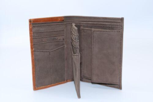 Homme en cuir souple trifold wallet 12 carte de crédit emplacements et poche monnaie 2 couleur