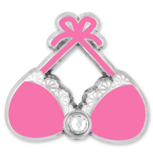 PinMart/'s Pink Bra Breast Cancer Awareness Enamel Lapel Pin