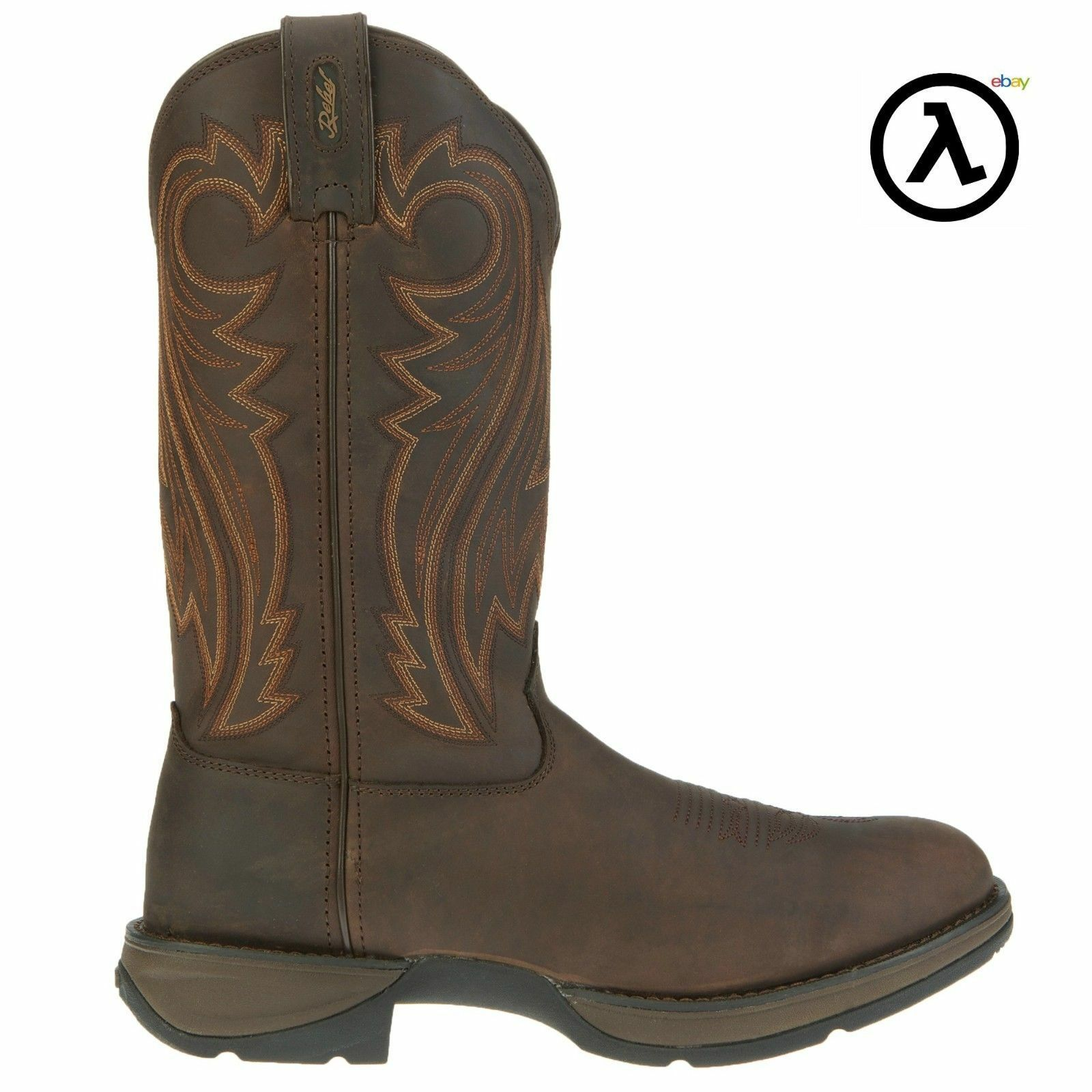 REBEL BY DURANGO CHOCOLATE PULL-ON WESTERN BOOTS DB5464 * ALL SIZES - NEW