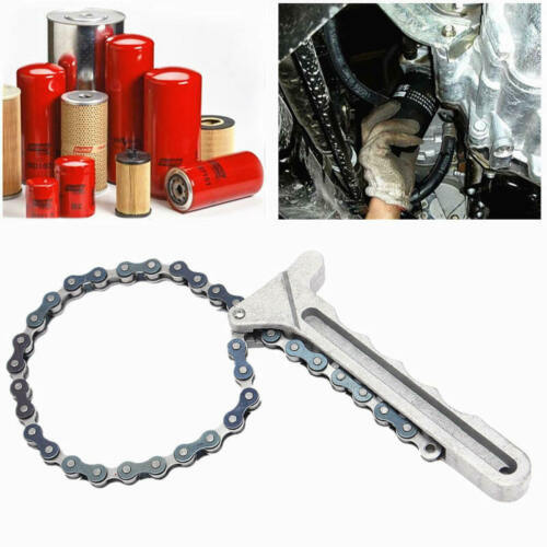 Car Engine Oil Filter Chain Grip Wrench Spanner Remover Equitment Car  LBV
