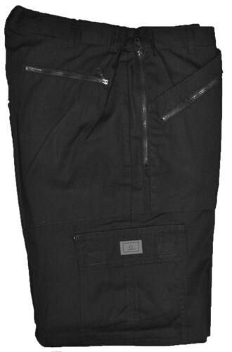 Semi Elasticated Waist Action Combat Cargo Walking Work Trousers 9 Pockets 32-48