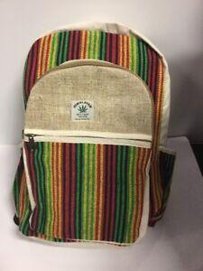 New-Colourful-rasta-Unisex-Hemp-cotton-Backpack-Made-in-Nepal