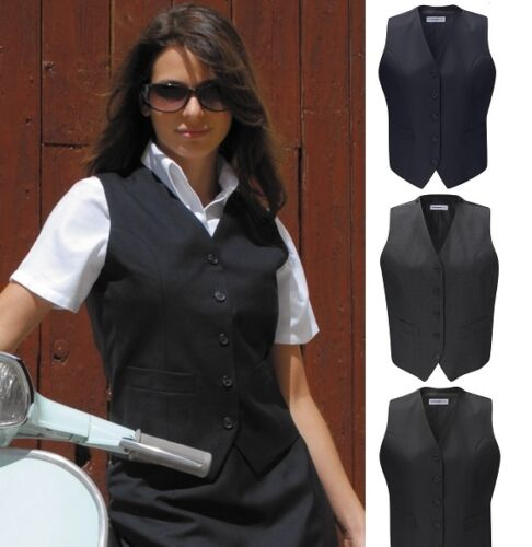 Gilet donna uniforme lavoro CAFE BAR CAMERIERA RISTORANTE Mix di lana ospitalità