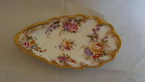 Dresden-vintage-Victorian-antique-clam-shell-shaped-shallow-dish-bowl-B